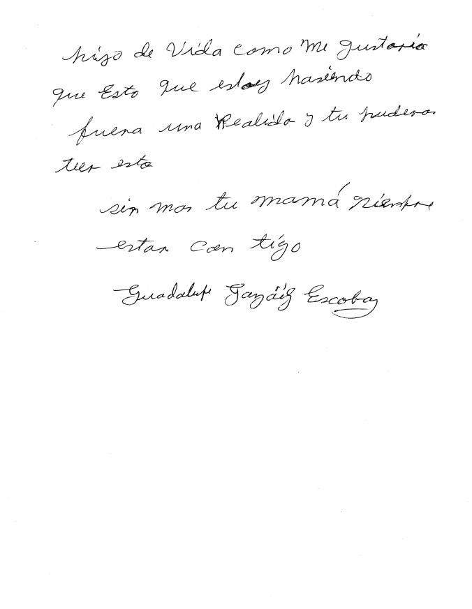Carta de Guadalupe González Escobar 2